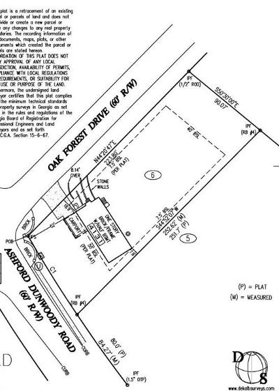 Brookhaven Residential Lots & Land For Sale: 4131 Ashford Dunwoody Road NE