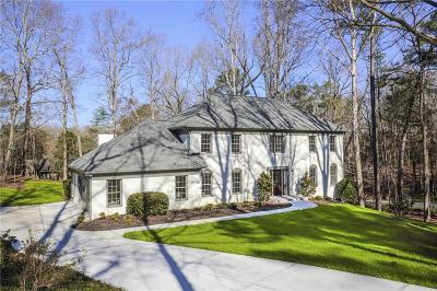 Sandy Springs Single Family Home For Sale: 8160 Habersham Waters Road