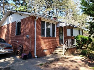 Atlanta GA Single Family Home For Sale: $73,000