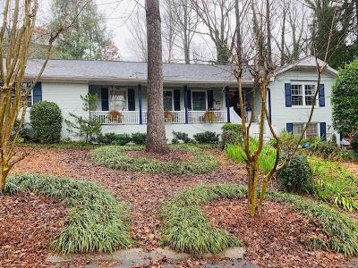 Dunwoody Single Family Home For Sale: 4872 Valley View Court