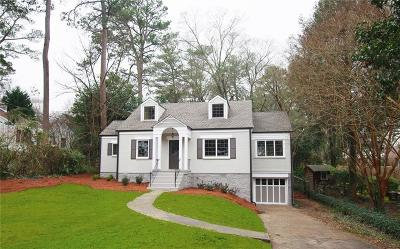 Druid Hills Single Family Home For Sale: 2039 Westminster Way NE