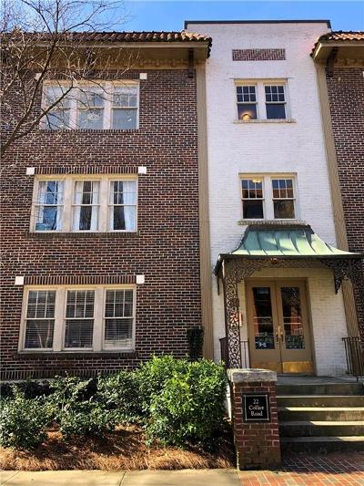 Atlanta Condo/Townhouse For Sale: 22 Collier Road NW #8