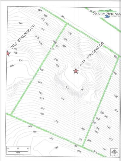 Sandy Springs Residential Lots & Land For Sale: 2413 Spalding Drive