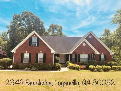 Loganville Single Family Home For Sale: 2349 Fawnledge