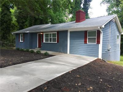 Fulton County Single Family Home For Sale: 2874 SW Waters Road SW