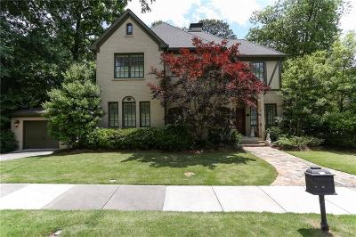 Peachtree Park Single Family Home For Sale: 60 Park Circle NE