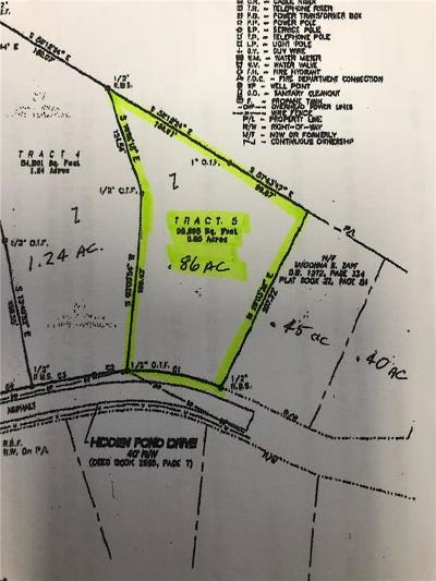 Residential Lots & Land For Sale: Hidden Pond Tract 5