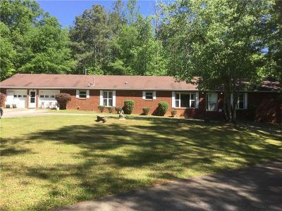 Powder Springs Single Family Home For Sale: 4860 Brownsville Road