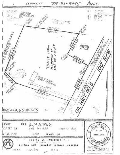 Marietta Residential Lots & Land For Sale: 2318 Powder Springs Road