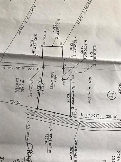 Acworth Residential Lots & Land For Sale: Cheatham Road NW