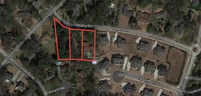 Sandy Springs Residential Lots & Land For Sale: 591 Mabry Road
