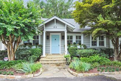 Buckhead Single Family Home For Sale: 68 Peachtree Hills Avenue NE