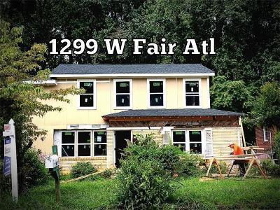 Single Family Home For Sale: 1299 Fair Street SW