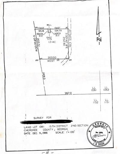 Woodstock Residential Lots & Land For Sale: Pritchett Drive