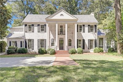 Atlanta Single Family Home For Sale: 309 Peachtree Battle Avenue NW
