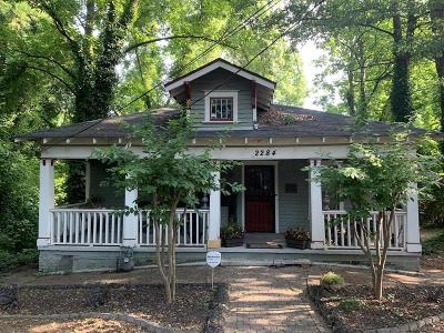Single Family Home For Sale: 2284 Memorial Drive SE