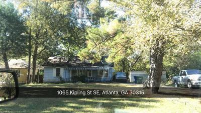 Atlanta Single Family Home For Sale: 1065 Kipling Street SE