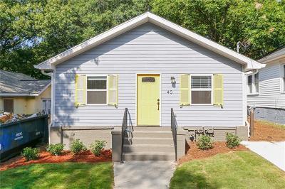 Atlanta Single Family Home For Sale: 40 Booker Street NW
