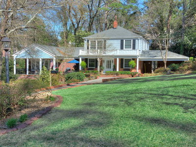 Augusta Single Family Home For Sale: 1214 Peachtree Road