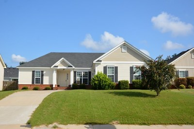Grovetown GA Single Family Home For Sale: $147,000