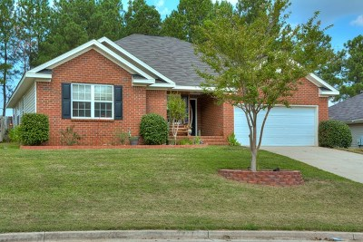 Grovetown GA Single Family Home For Sale: $167,900