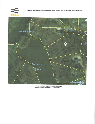 North Augusta Residential Lots & Land For Sale: 1820 Silver Maple Drive
