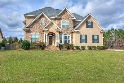 Evans Single Family Home For Sale: 896 Woody Hill Circle