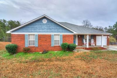 Hephzibah Single Family Home For Sale: 3923 Crest Drive