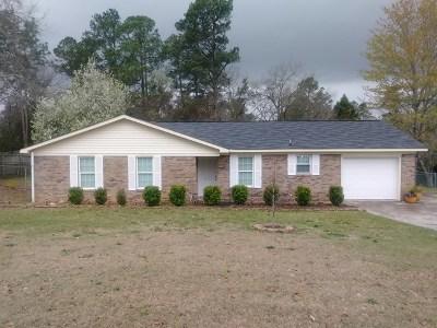 Hephzibah Single Family Home For Sale: 3717 Fairington Drive