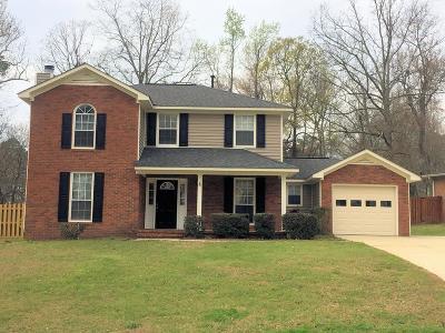 Evans Single Family Home For Sale: 580 Hunterdale Road