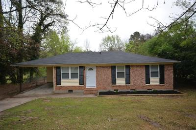 Augusta GA Single Family Home For Sale: $85,500