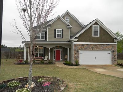 Grovetown Single Family Home For Sale: 461 Marble Falls