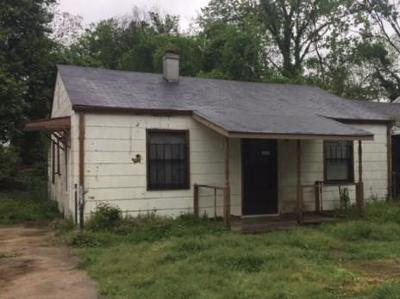 Augusta GA Single Family Home For Sale: $27,500