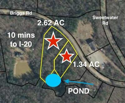 Edgefield County Residential Lots & Land For Sale: Lots 4&5 Briggs Road