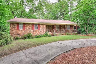 North Augusta Single Family Home For Sale: 430 Cherokee Drive
