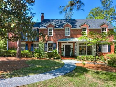 Augusta Single Family Home For Sale: 1215 Peachtree Road