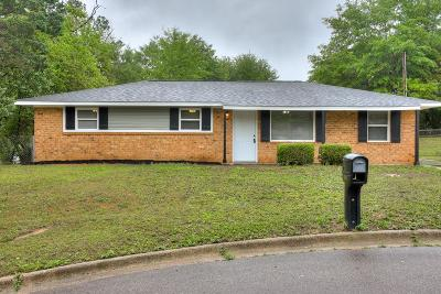 Augusta GA Single Family Home For Sale: $105,000