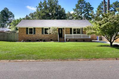Aiken Single Family Home For Sale: 1005 Wheeler Drive