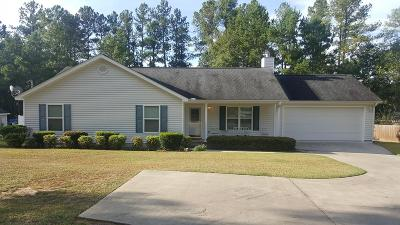 Dearing Single Family Home For Sale: 3354 Old Augusta Road