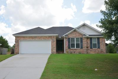 Grovetown Single Family Home For Sale: 3012 Ashland Way