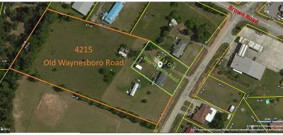Residential Lots & Land For Sale: 4213 Old Waynesboro Road