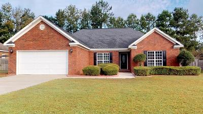 Grovetown GA Single Family Home For Sale: $192,900