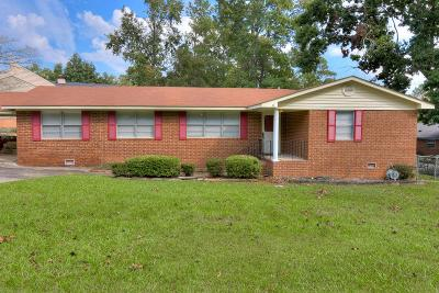 Augusta GA Single Family Home For Sale: $169,900