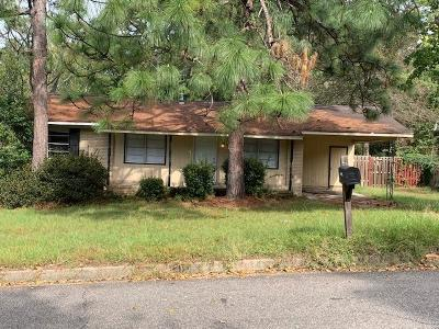 Augusta GA Single Family Home For Sale: $35,000