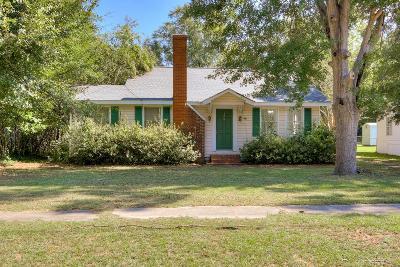 Blackville SC Single Family Home For Sale: $65,000