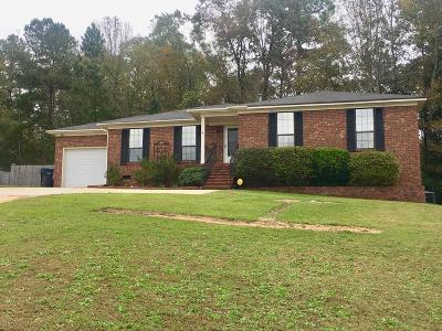 Hephzibah Single Family Home For Sale: 3023 White Sand Drive