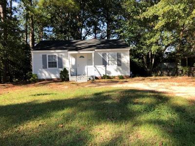 Augusta GA Single Family Home For Sale: $50,000