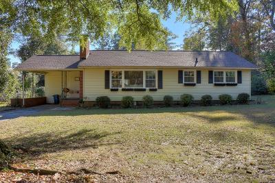 Aiken Single Family Home For Sale: 1013 Hitchcock Driive