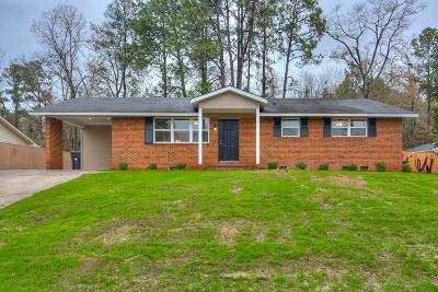 Augusta Single Family Home For Sale: 3520 Richmond Hill Road