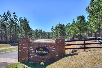 Aiken Residential Lots & Land For Sale: Lot 10-1 Barrington Farms Dr.